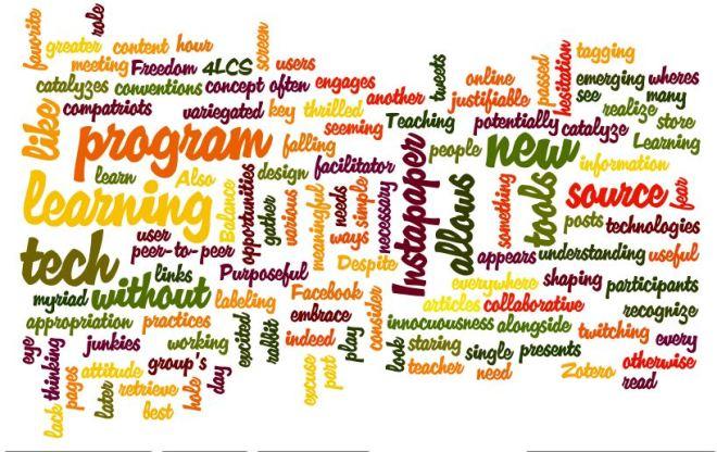 LIBR 281_Week 4 DT _Wordle for Blog Post